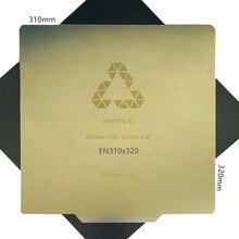 Folha de aço para remoção de 310x320mm, adesivo magnético impressora 3d CR 10S pro cama de calor