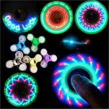 Unisex Light Fidget Spinner Led Stress Hand Spinners Figet Spiner Cube EDC Anti-stress Finger Spinner Autism boy Hand spinner(China)