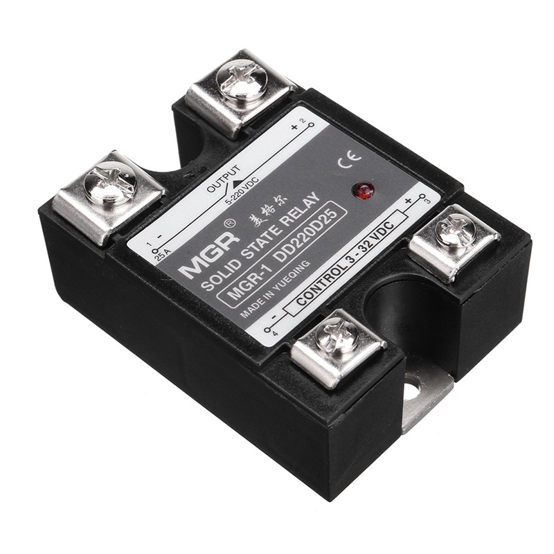 DC to DC Single Phase Solid State Relay SSR-25A 3-32V 5-220V w Clear Cover