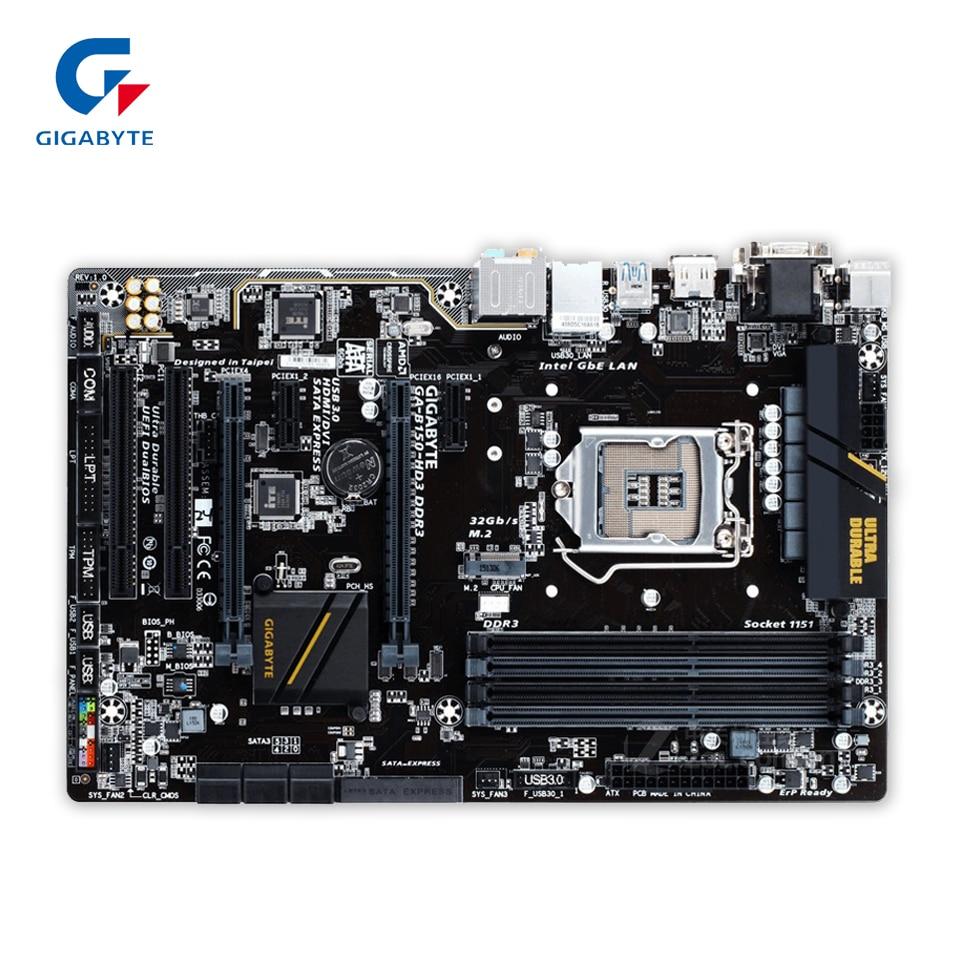 Gigabyte GA-B150-HD3 DDR3 Original Used Desktop Motherboard B150-HD3 DDR3 B150 LGA 1151 i3 i5 i7 DDR4 32G ATX