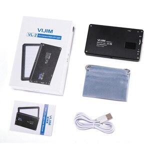 Image 4 - VIJIM VL 2 RGB LED וידאו אור 2500 K 8500 K Dimmable מנורת צילום תאורה עבור Sony ניקון DSLR מצלמות