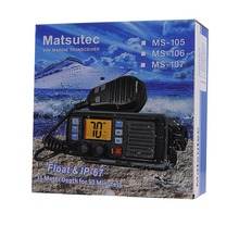 2pcs New Arrival Marine VHF Mobile Radio Matsutec MS-105 Walkie Talkie Radio Transceiver Ham Radio Long Distance