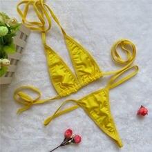 Женское бикини с открытой спиной пляжный купальный костюм в