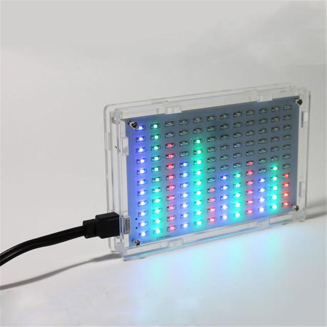 A suíte de produção de display LED LED espectro de música de áudio chip de prática de soldagem de peças DIY