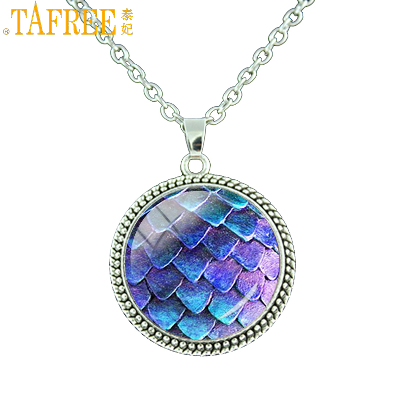 Discreet Tafree Wholesale Women Men Necklace Large Glass Dome Pendant Dragon Statement Necklace Jewelry Es152 Nourishing Blood And Adjusting Spirit Necklaces & Pendants