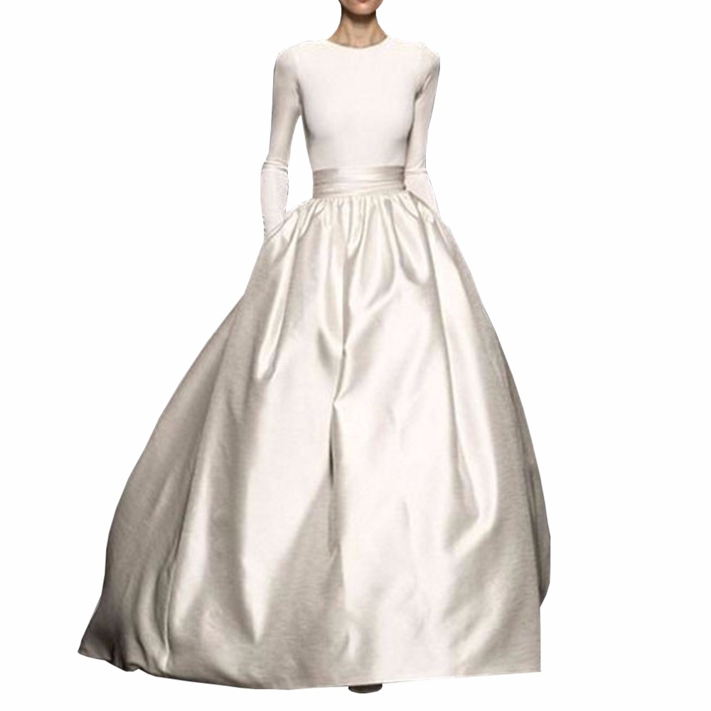 Gorgeous Puffy Taffeta Ball Gowns High Waist Vintage Skirt For Women To Formal Party With Pocket Floor Length Skirts