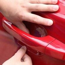 4 шт./компл. Универсальный Невидимый ясно для автомобиля на клеящейся основе под заказ дверные ручки Краски Защита от царапин пленка