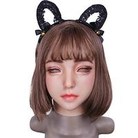 EYUNG new Emily Doll silicone female mask Suitable for crossdresser Pseudo street drag queen shemale cosplay mouth Openable