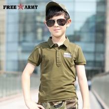 Summer Boys Polo Shirts Breathable FreeArmy Brand Short Sleeve Tops Tee Cotton tshirts For Boy New Pattern Polo Shirt TN-3206A  стоимость