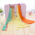 2015 newest design summer style scarves chiffon polyster material music design silk hijab fashion scarf desigual