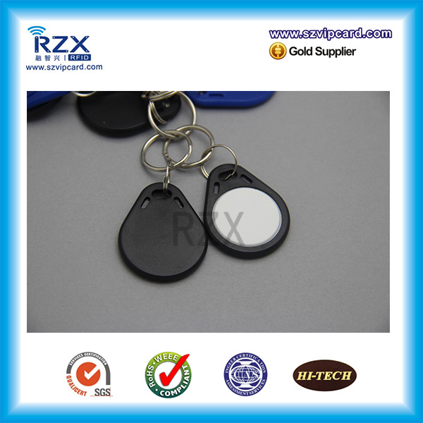 1000pcs black white 125Khz T5577 RFID tag proximity smart Key fob with high quality