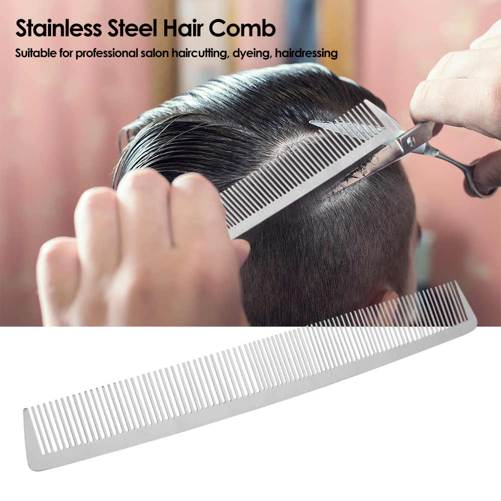Salon Hair Comb Stainless Steel Hair Cutting Comb Hand Made Professional Hairdressing Steel Barber Comb Combs Aliexpress