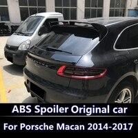 For Porsche Macan 2014 2016 2017 spoiler High Quality ABS Material Car Rear Wing Primer Color Rear Spoiler Dedicated spoiler