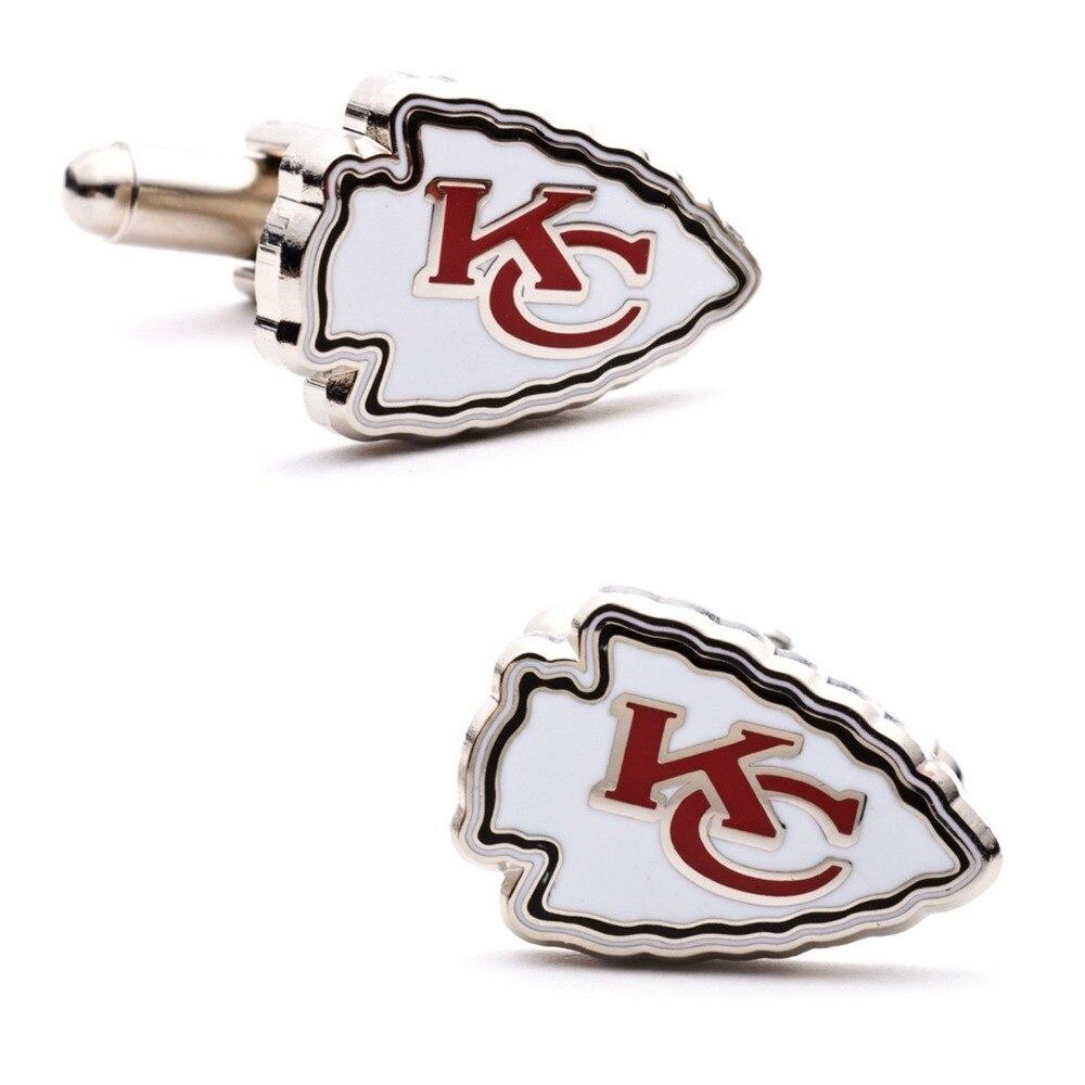 Shirt design kansas city - Cf0826 1 Kansas City Chiefs Plated Cufflinks Wedding Gift Football Men Shirt 2015 With Design
