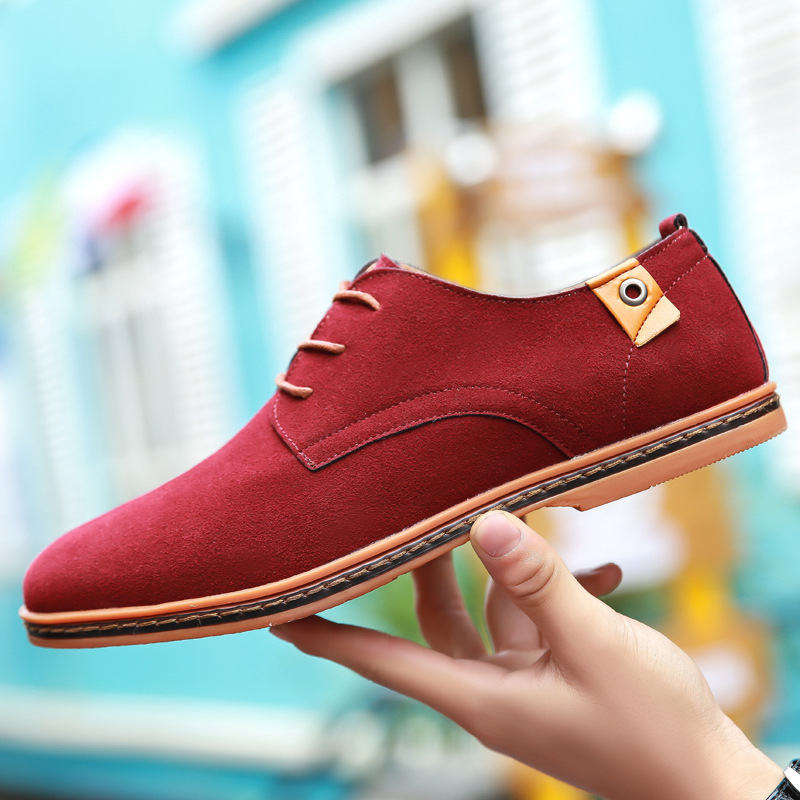 Plus Size 48 Men Oxfords Faux   Suede     Leather   Men Casual Shoes Spring Autumn Fashion Oxford Shoes Men 2019 Male Tenis Shoes