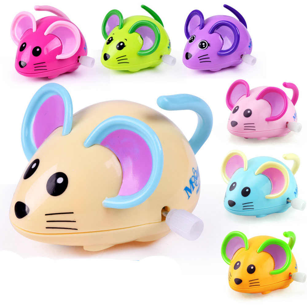 ألعاب أطفال بلاستيكية برسوم كرتونية تُختتم بالتدريج المبكر على شكل فأرة جميلة للمشي على شكل عقارب الساعة للأطفال