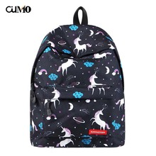 Ou Mo brand Flamingo Print Mini Bag Women man laptop anti theft backpack feminina middle School student Schoolbag
