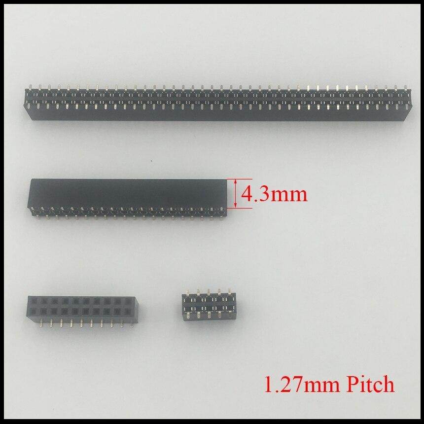 2*6 2x6 2*7 2x7 2*8 2x8 Pin 12P 14P 16P 1.27mm Pitch 4.3mm Height Double Row SMD SMT Female Connector Socket Pin Header Strip