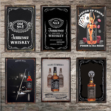 Whiskey Vintage Tin Sign Bar Pub Home Wall Decor Retro Metal Art Beer Coffee Poster Plate 30*20cm 1001(328)