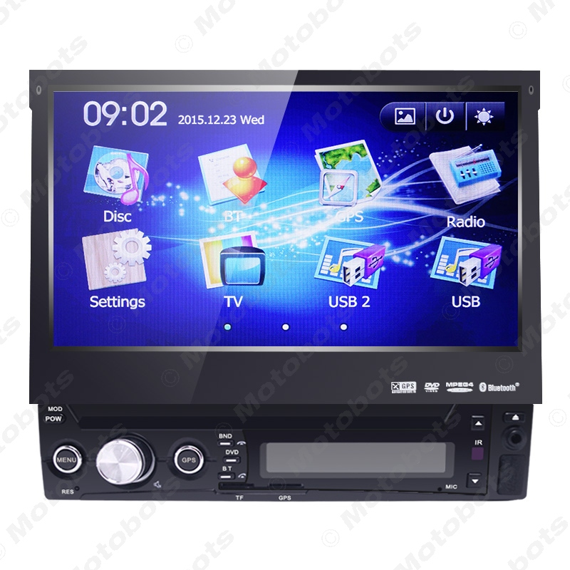 7inch 1DIN In-dash Manumotive Ultra Slim WinCE Car GPS Bluetooth Navi Radio USB MP5 With  DVD Player #AM3934 аксессуар lowepro 5 0 navi dash black