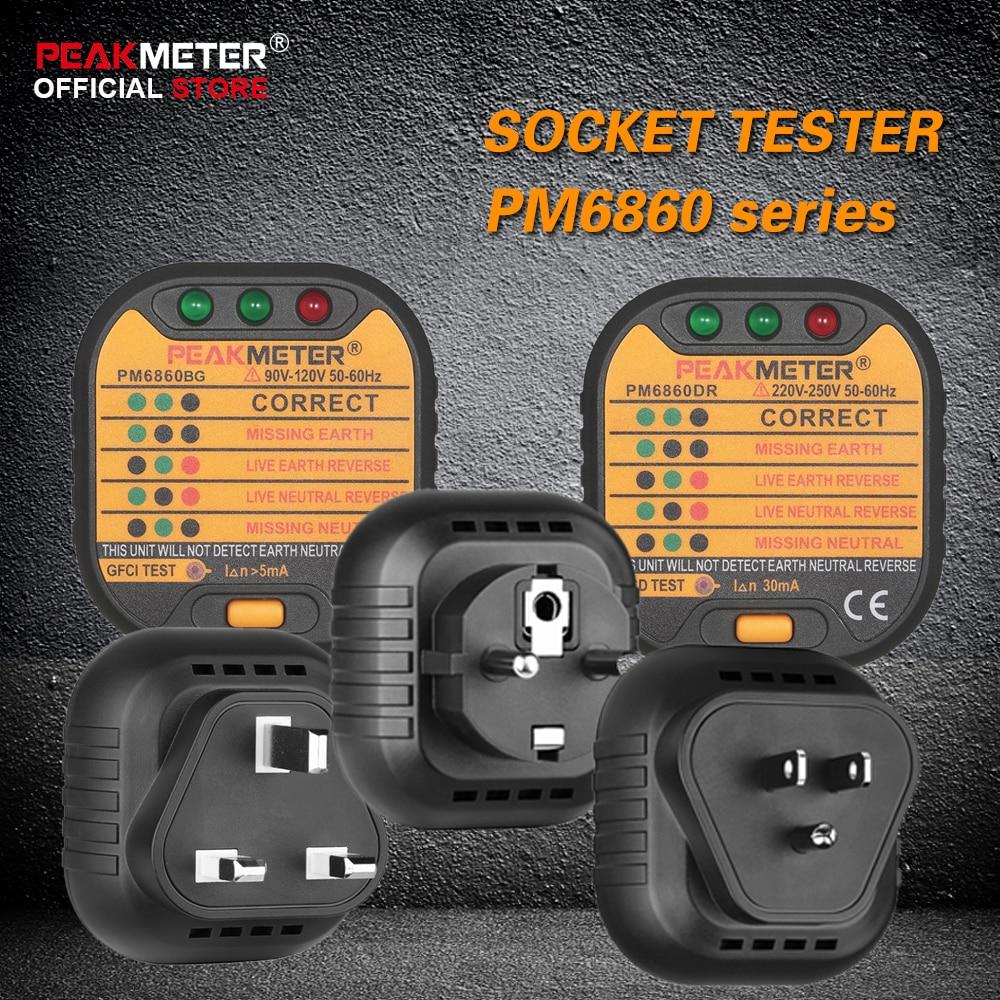 Official Peakmeter Pm6860 Series Socket Tester 110v 220v