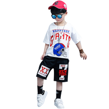 3-12Y Boys Clothing summer tshirt+harem pant Fashion Boy Clothes Cool Kids Hip Hop Sports Suit children tracksuits