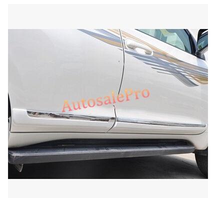 Chrome Pearl White Side Door Body Molding Cover Trim For Toyota Land Cruiser Prado Fj150 2010-2016