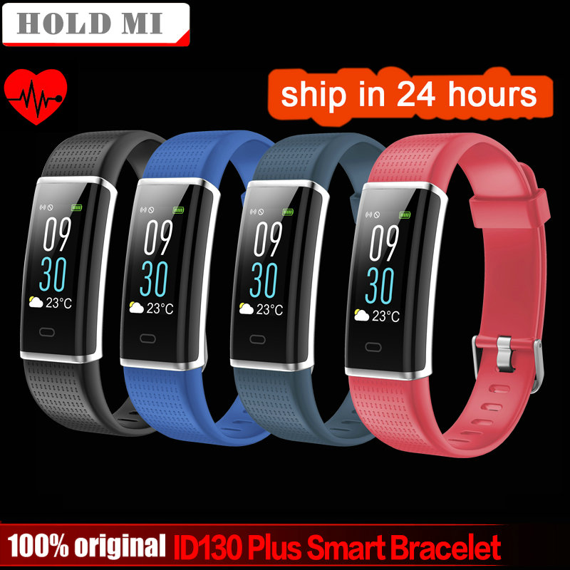Hold Mi ID130 Plus Color Smart wristband Heart rate Watches Smart bracelet Fitness tracker Smart band PK mi band 3 Honor band 3 id118 plus smart wristband fitness