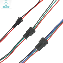 цена на 10Pairs JST SM 2Pin/3Pin/4Pin Quick Connector Terminal Wire Male and Female Plug Adapter Line Cable for Led Lamp Strip