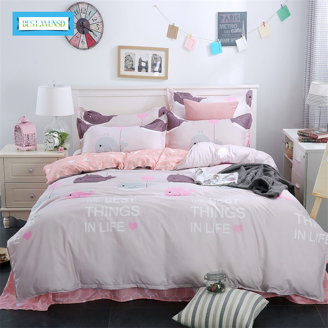 Best Wensd Family Bed Linens 100 Cotton High Quality Simple Style Bedding Set 1