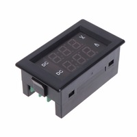 Digitale Voltmeter Dc 100V 20A Dual Ampèremeter Volt Amp Gauge Meter Rood + Groene Led Tester Gereedschap 2 Kleur