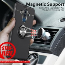 For Huawei Mate 9 10 pro Car Magnetic Finger Ring Holder Stand Back Cover For Hu