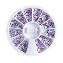 1 WheelE Pink Marquis Holographic Rivet Nail Stud Charms 1.5-3mm size Art Decorations For Manicure Tools ZP4801