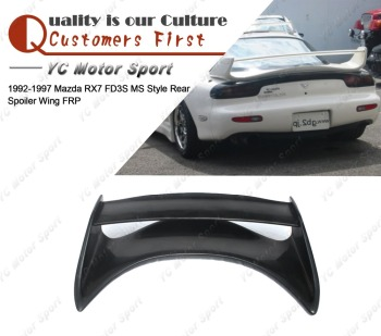 Car Accessories FRP Fiber Glass MS Style Rear Spoiler Fit For 1992-1997 RX7 FD3S Trunk Spoiler Wing Car-styling