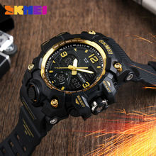 Skmei Brand Men Sport Watches Digital Chronograph Double Time Alarm Watch 50m Watwrproof El Light Wristwatches Relogio Masculino