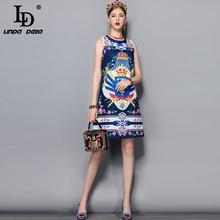 Gorgeous Crystal Beading Printed Mini Dress