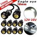 10 Pcs 18mm 23mm 12 V 24 V 6000 k Branco Olho de Águia Motor Car Cauda Brake Turno Singal Luz de NEVOEIRO LEVOU
