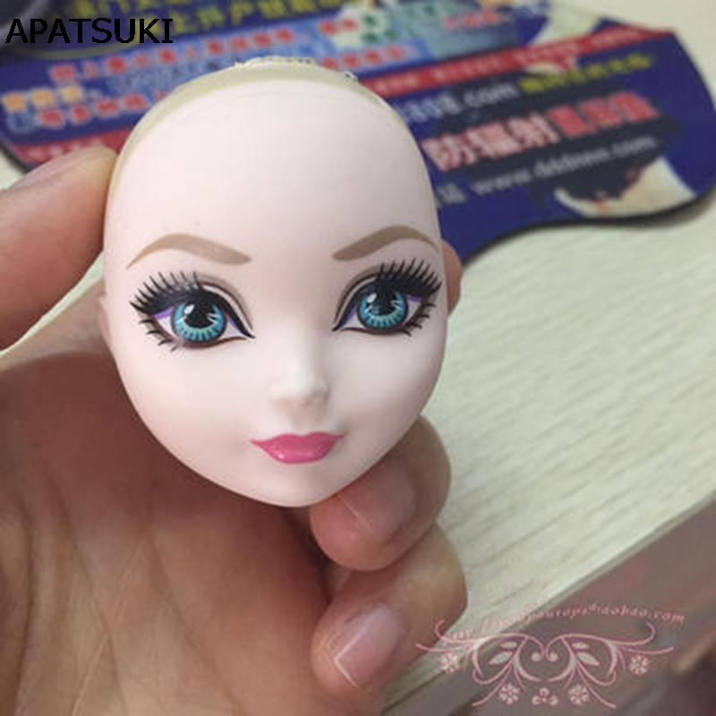 1/6 DIY Doll Head For Monster High Doll BJD Doll's Practicing Demon Monster Head Without Hair Doll Accessories Kids Toy 25 28cm head blonde dark brown doll hair for handmade doll hair for homemade cloth toy diy dolls 18 inch doll hair repair 006