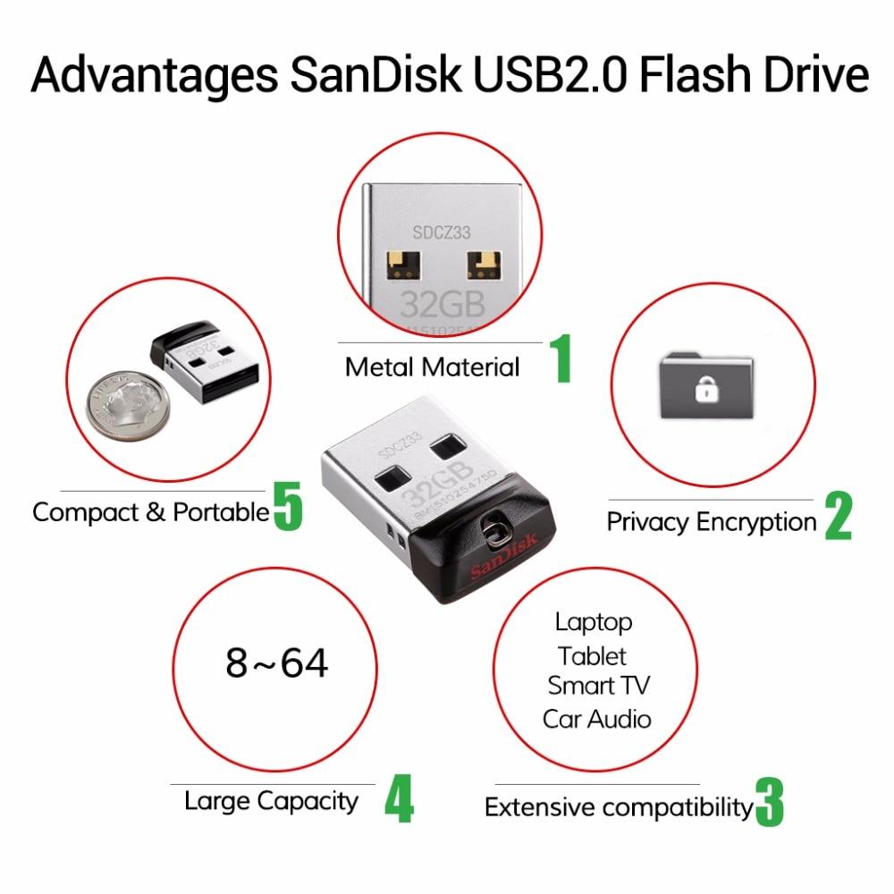 Clé USB SanDisk Cruzer Fit 32 Go CZ33 16 Go, 8 Go, mini-clés USB, - Stockage externe - Photo 4