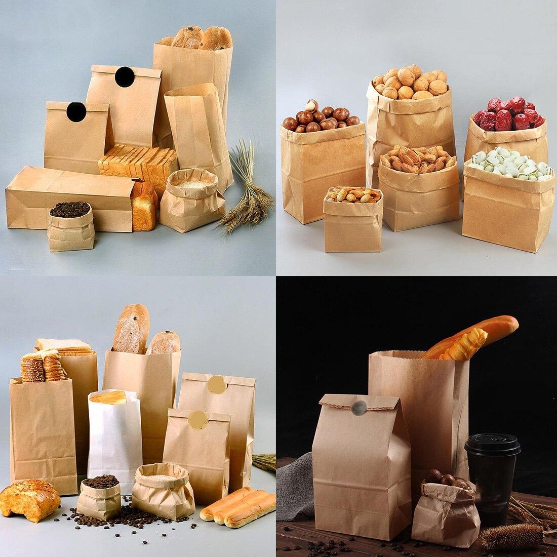 10 Stücke Braun Kraft Papier Geschenk Candy Taschen Hochzeit Verpackung Tasche Recycelbar Lebensmittel Brot Partei Einkaufs Taschen Für Boutique Zip Schloss Moderate Kosten