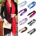 Women Long Pashmina Tassels Gradient Color Wool Shawl Scarves Wraps Scarf