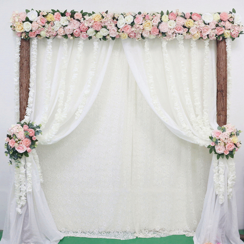JAROWN Artificial 2M Rose Flower Row Wedding DIY Arched Door Decor Flores Silk Peony Road Cited Fake Flowers Home Party Decoration Maison (29)_