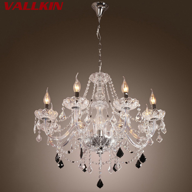 K9 led crystal chandelier light fixture modern lamp for living room bedroom hotel hallway indoor decoration