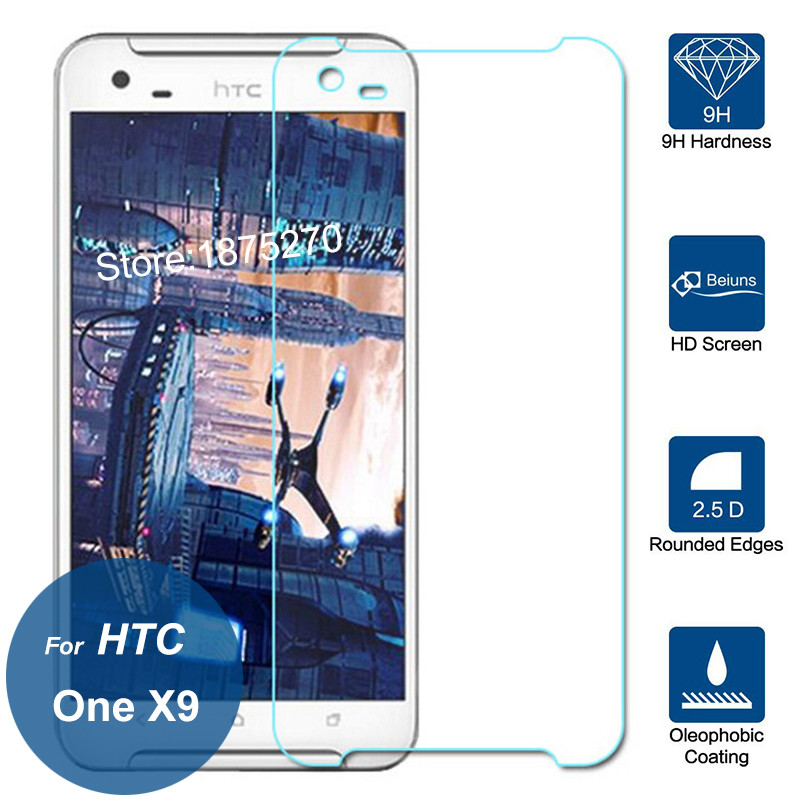 For HTC One X9 Tempered Glass Screen Protector 9H 2.5D Explosion-proof Safety Protective Film On One X 9 X9u E56ML Dual Sim