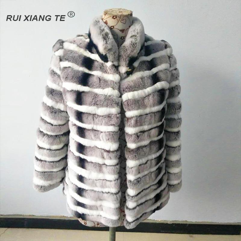 ENVÍO GRATIS RuiXiangTe mujeres abrigo de pieles naturales reales - Ropa de mujer
