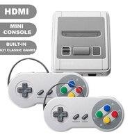 Saída Mini HDMI Embutido 621 Clássico Retro Jogos de Consola de Jogos TV Dupla Controladores Handheld Jogador Do Jogo de Vídeo Para Jogos de NES