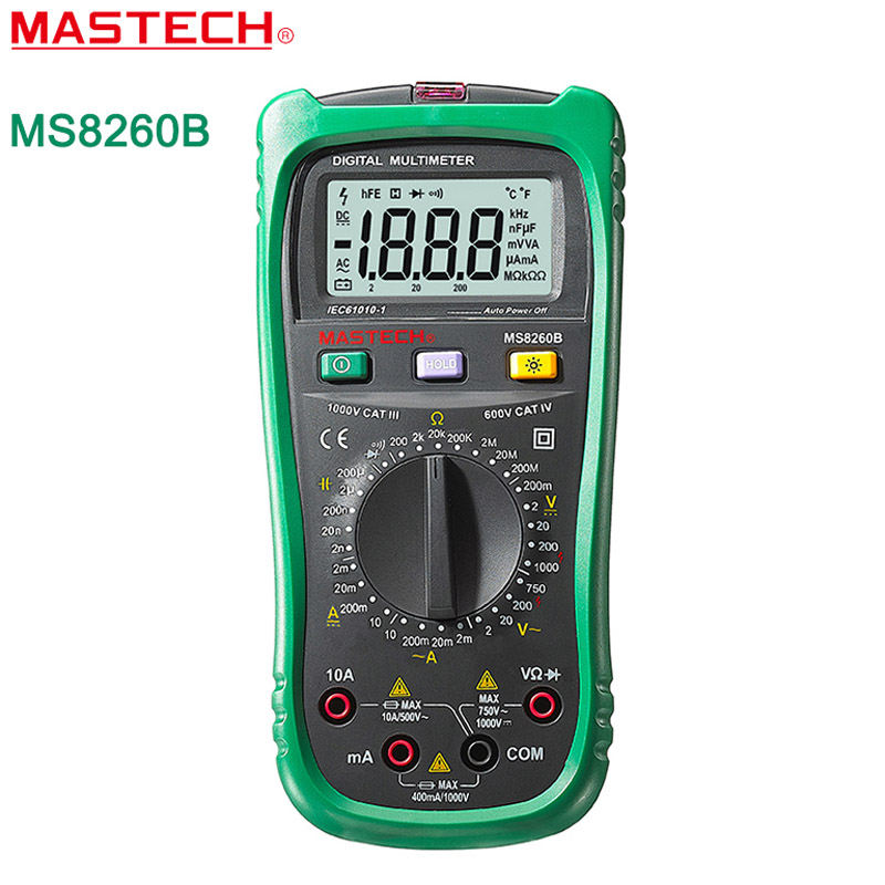 Mastech MS8260B Digital Multimeter DMM VOLT STICK Tester Electrical LCR Meter Non-contact voltage Detector Ammeter Multitester