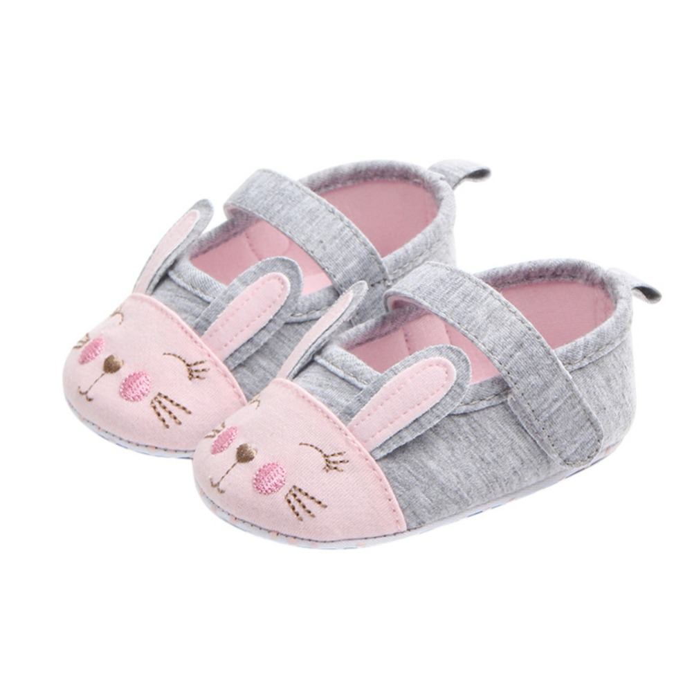 Baby First Walkers Shoes Baby Boy Girl Non-slip Soft-soled Toddler Shoes Cotton Fabric Solid Hook&Loop Patch Princess Shoes