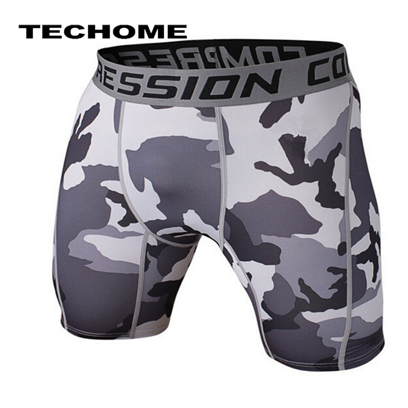 Camouflage Bermuda Shorts Clothing Tights Fitness Bodybuilding Summer Brand Cossfit Men