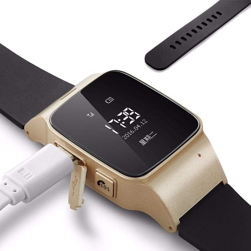 D99 Elderly SmartWatch SOS Anti-lost Watch GPS Tracker Gps+Lbs+Wifi IOS Android Locator Watch for Elder Kids GPS